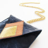Blue Leather Mobile Sleeve w. Neck Chain