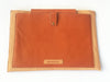 DOUBLE TONE BROWN LEATHER LAPTOP SLEEVE 13""