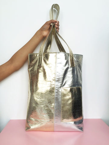 Totebag Gold/Silver
