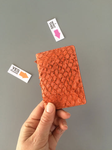 Orange Perch Fish-leather Cardholder