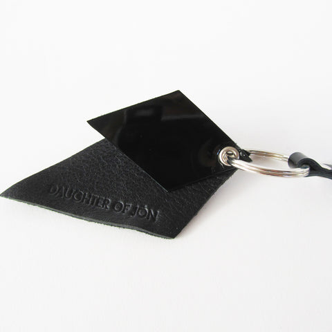 Black Leather Keyfob