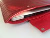 RED LEATHER LAPTOP SLEEVE 13""