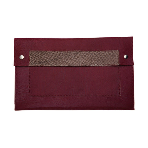 Clutch Burgundy / Light Brown