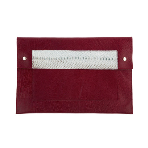 Clutch Burgundy / Light Turquoise