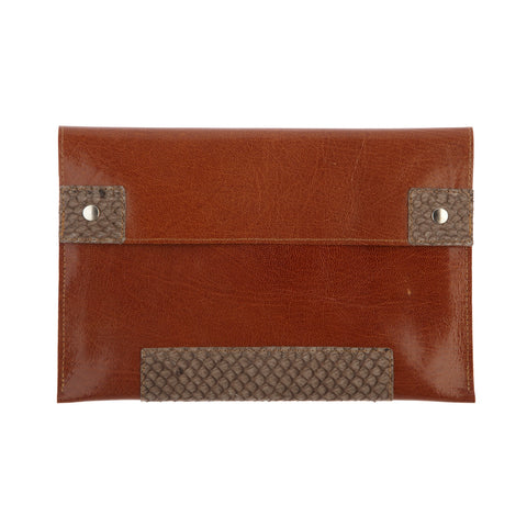 Purse Clutch Brown / Light Brown