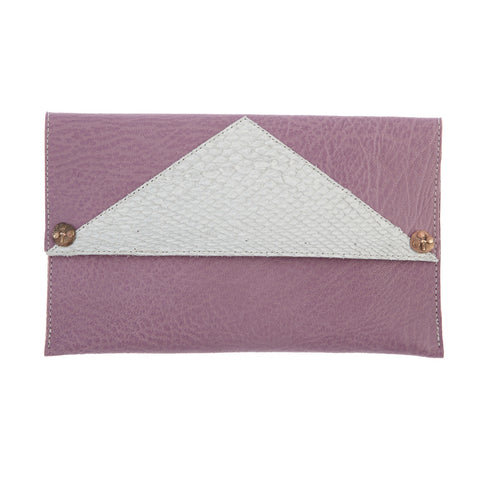 Purse Clutch Lilac / White -  Special Edition