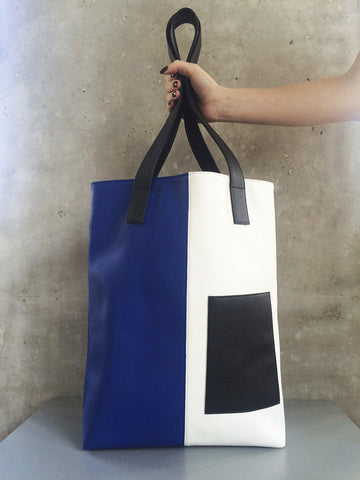 Totebag Blue/White/Black