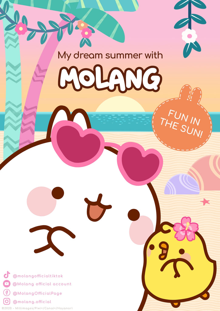 Your guide for a dreamy summer with Molang and Piu Piu 🌟