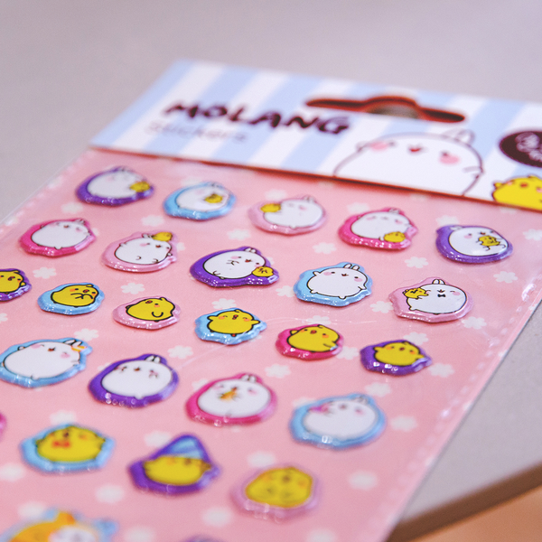 Planche de stickers 3D MOLANG