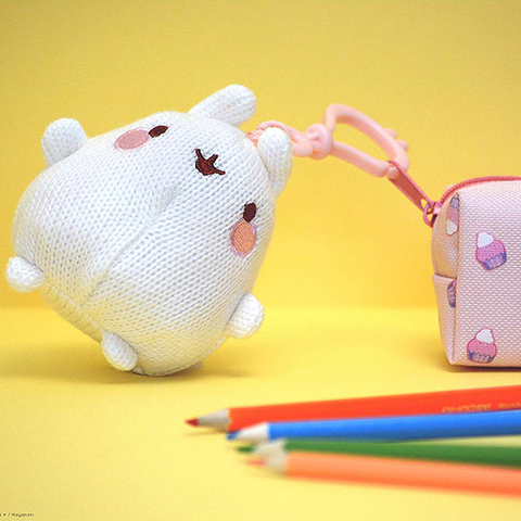 Porte-clés à clip MOLANG surprise