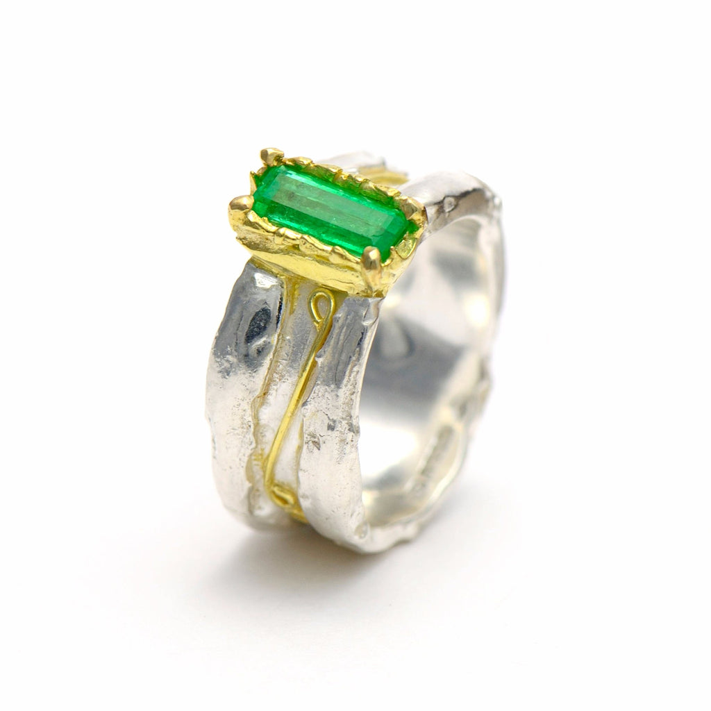18 ct gold and silver cocktail ring - Contemporary rings - insect inspire jewellery