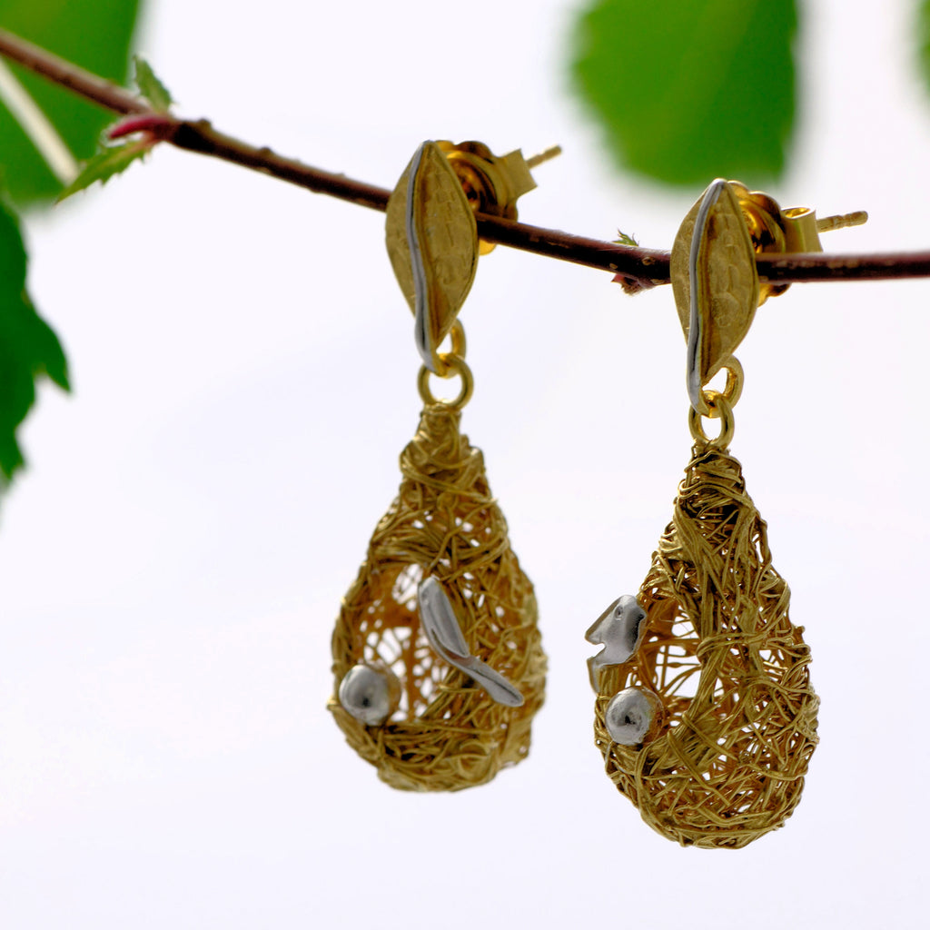 weaver nest  earrings