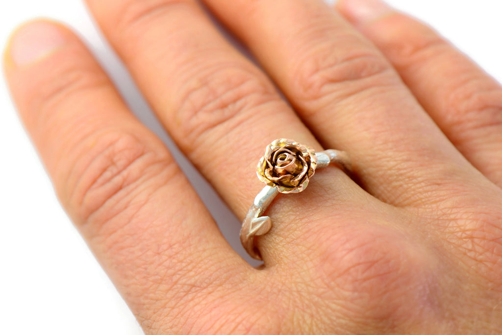 red rose engagement ring