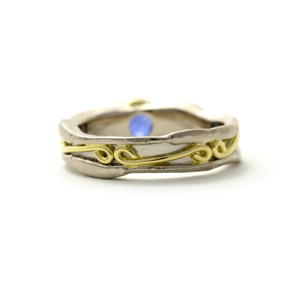 boho wedding ring in 18ct gold