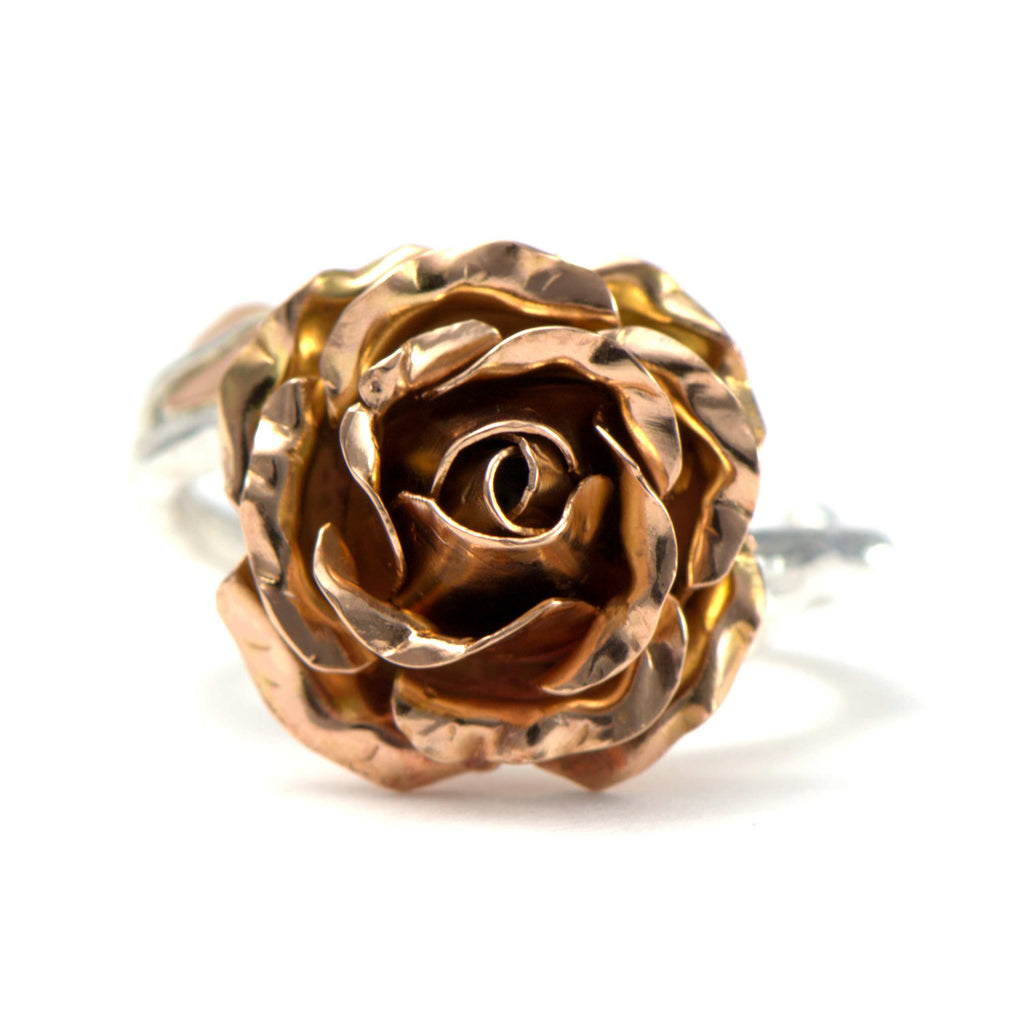 3D Open rose ring
