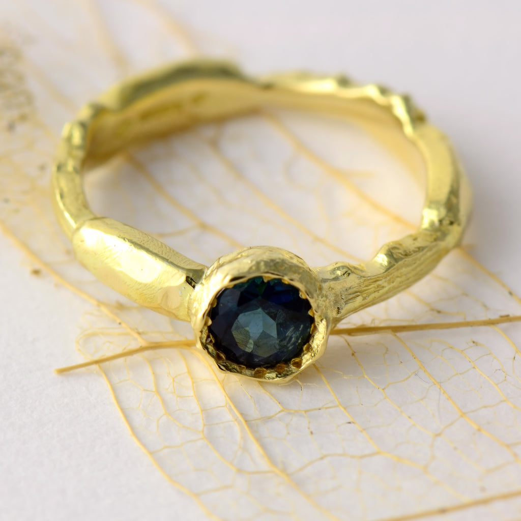 natural texture gold ring