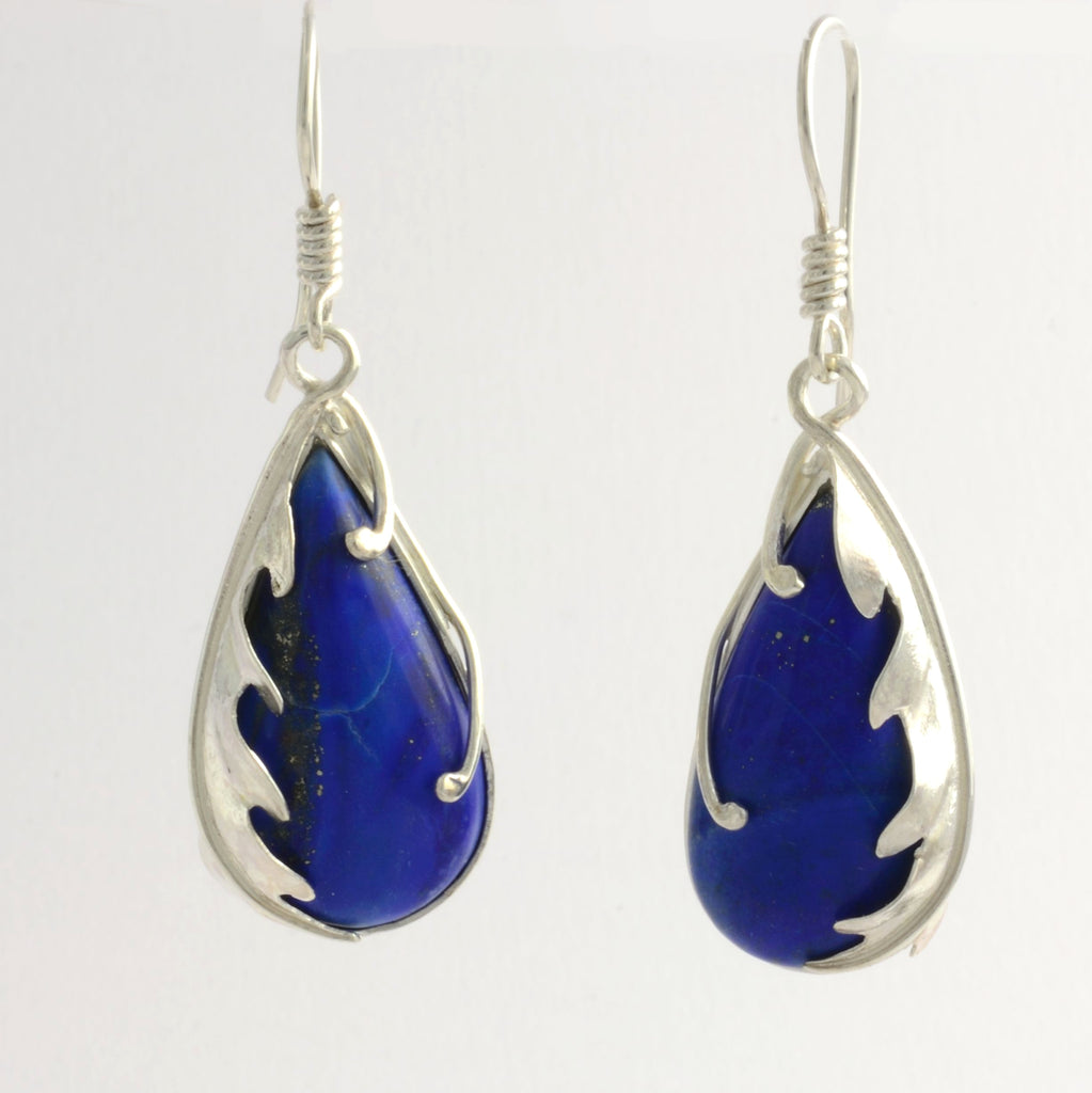 Silver Lapis lazuli Earrings
