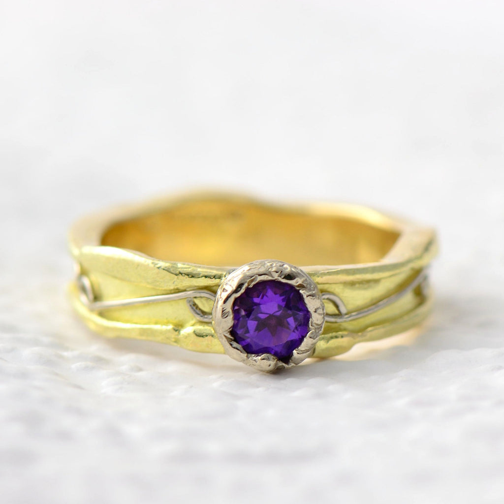 amethyst gold ring