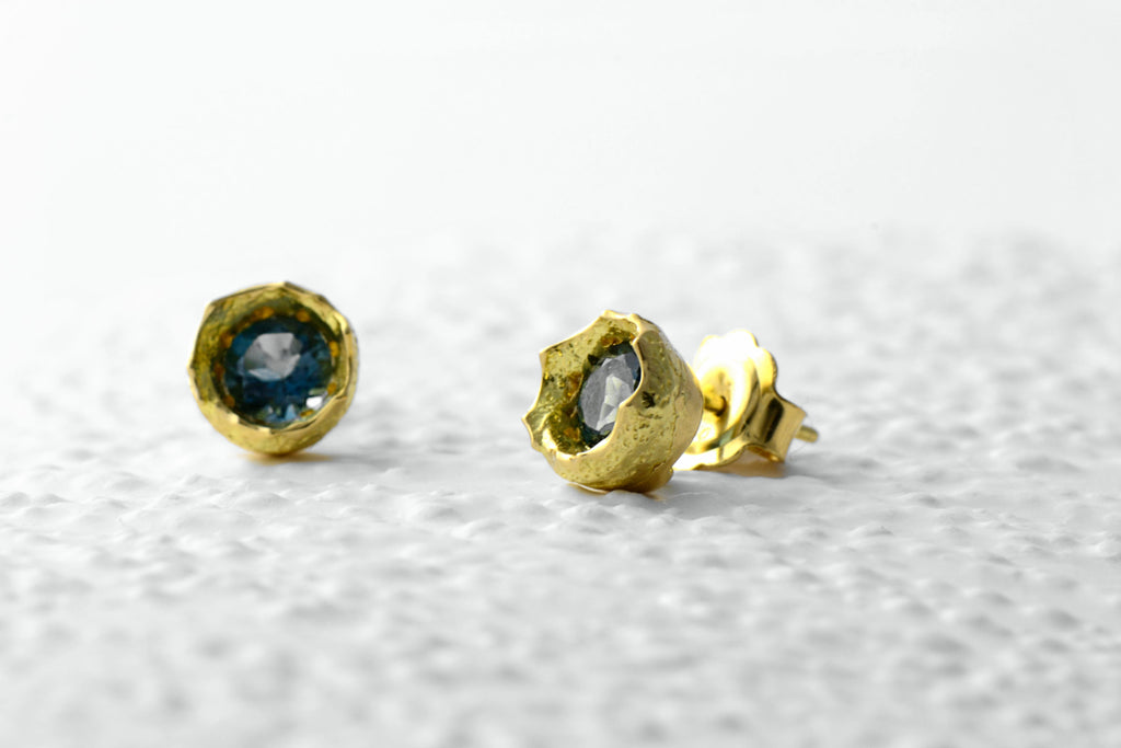 18ct fairtrade gold stud earrings