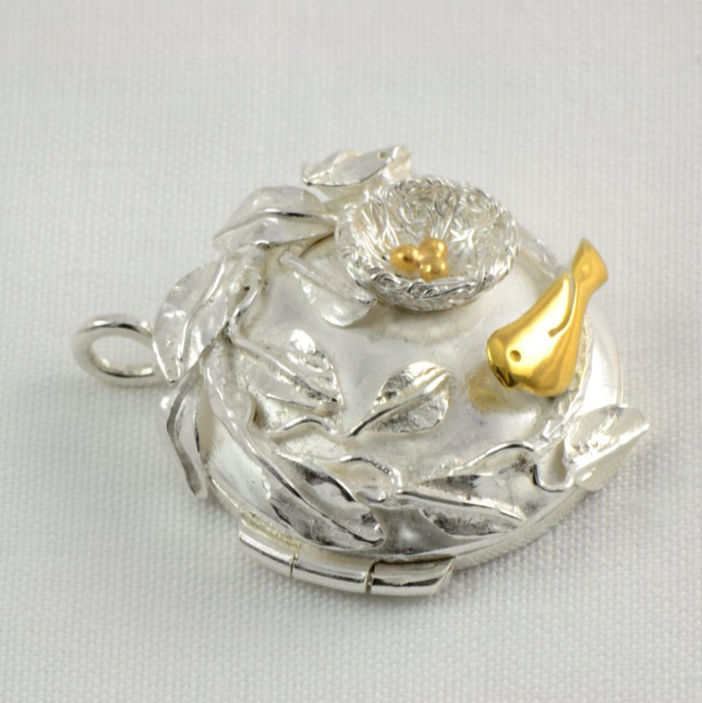 Silver Nest Locket