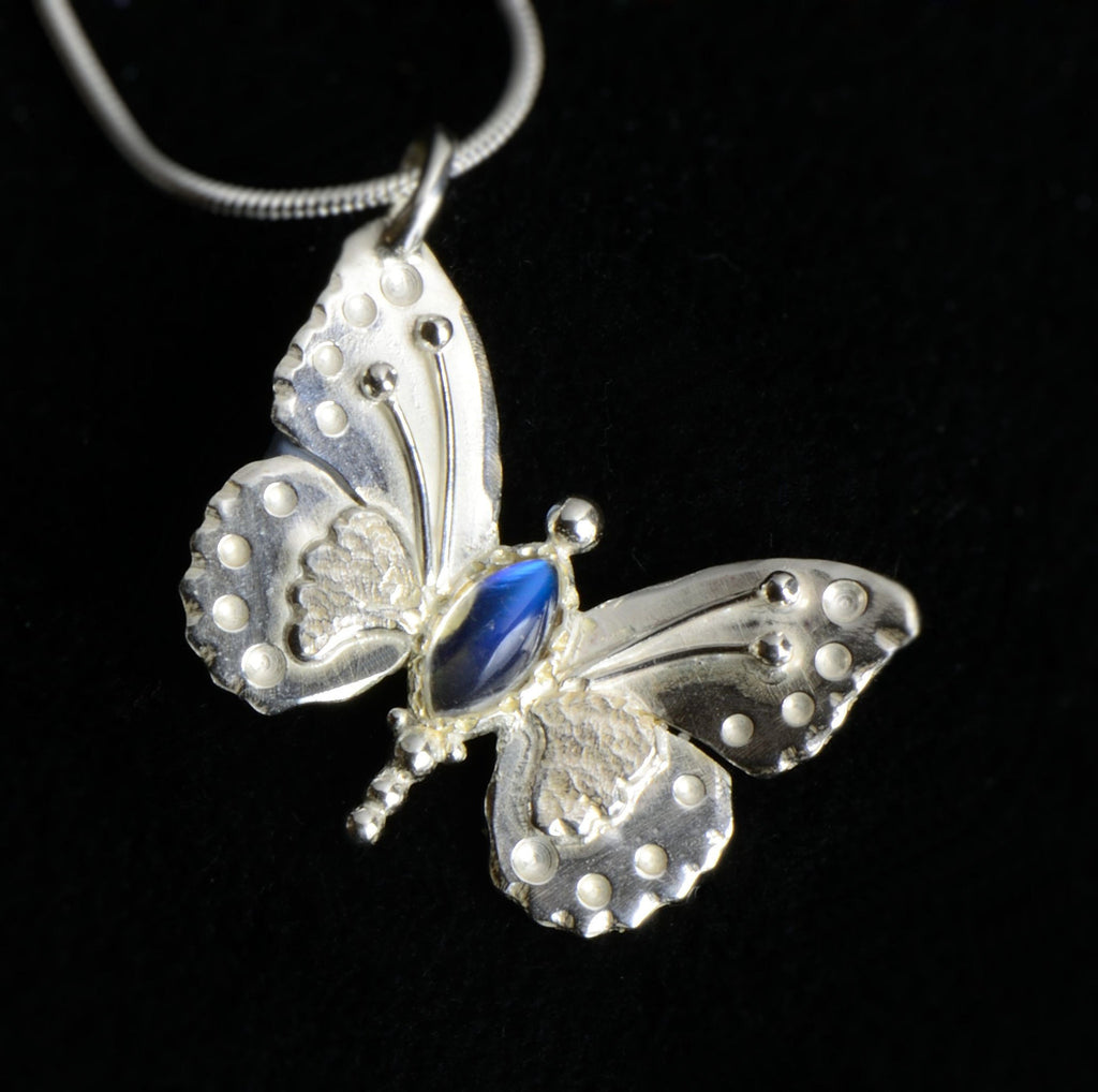 sterling silver Moonstone Butterfly Pendant