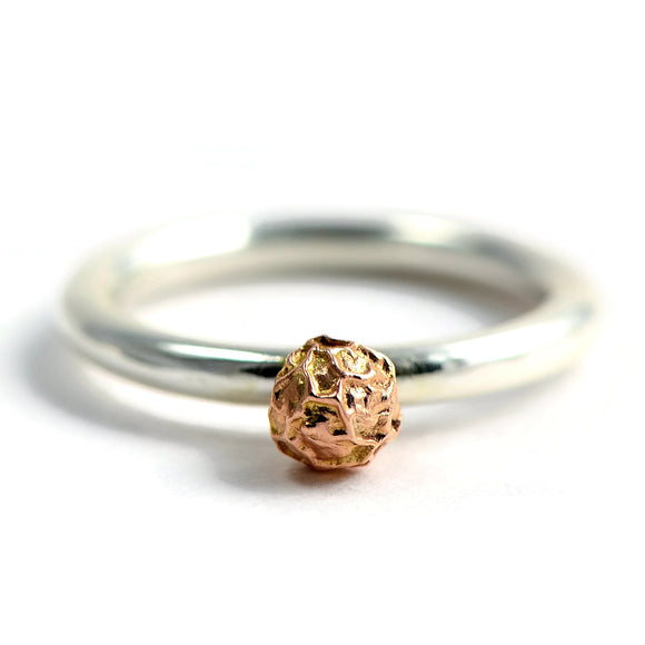 stacked rings with peppercorn design