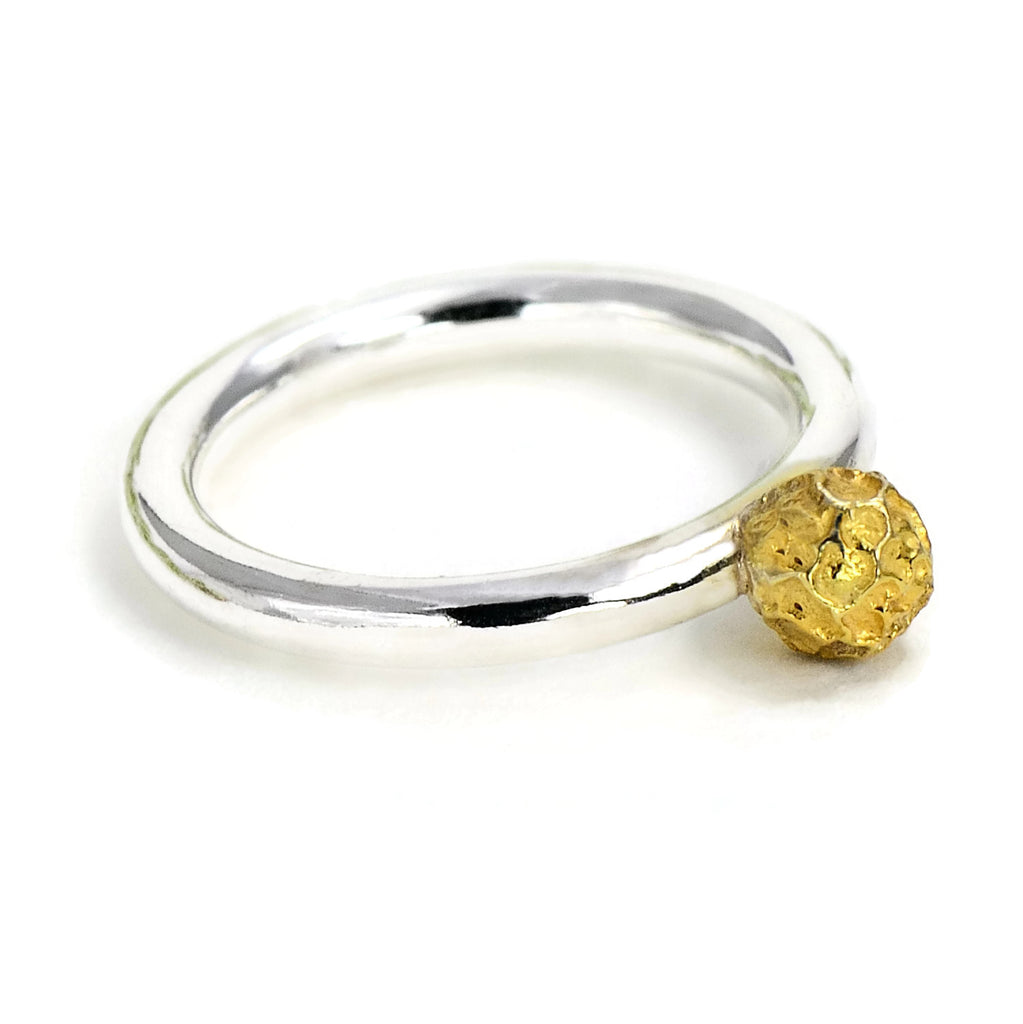 gold plated peppercorn ring