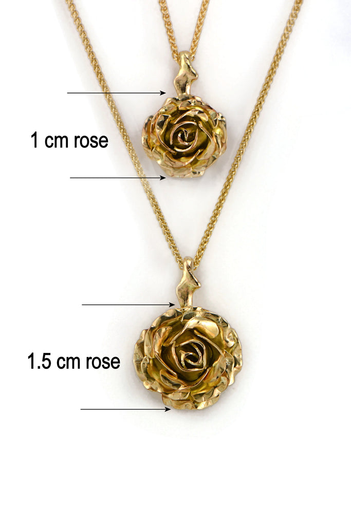 different sizes of roses