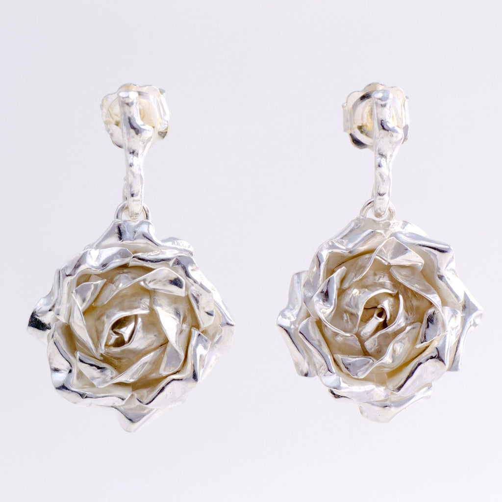 drop rose earrings