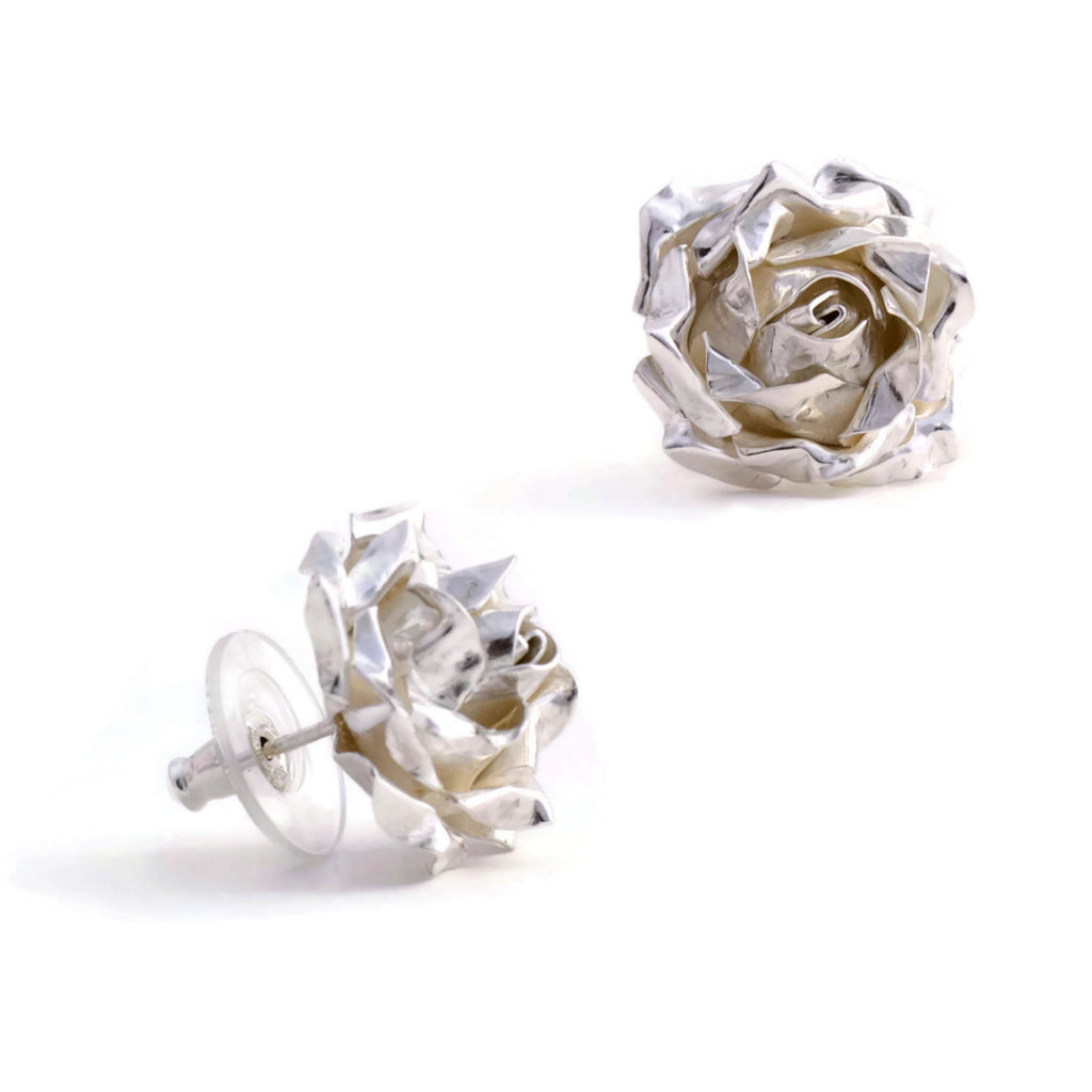 statement  rose earrings