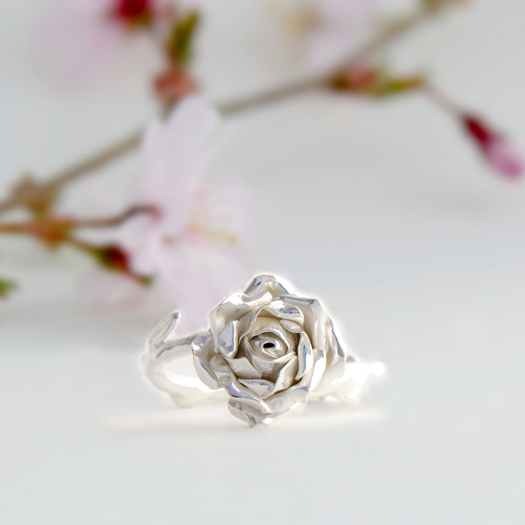 medium rose ring