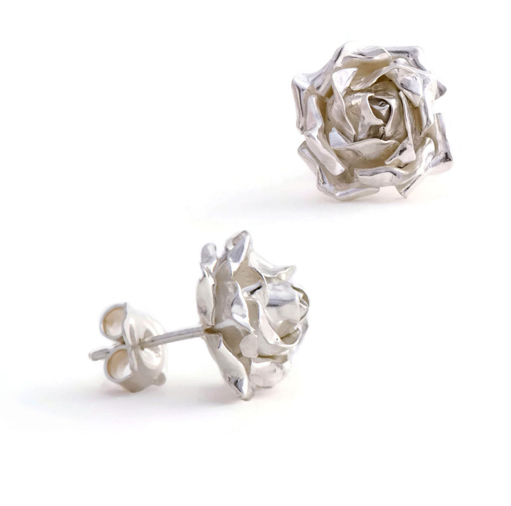 rose petals stud earrings
