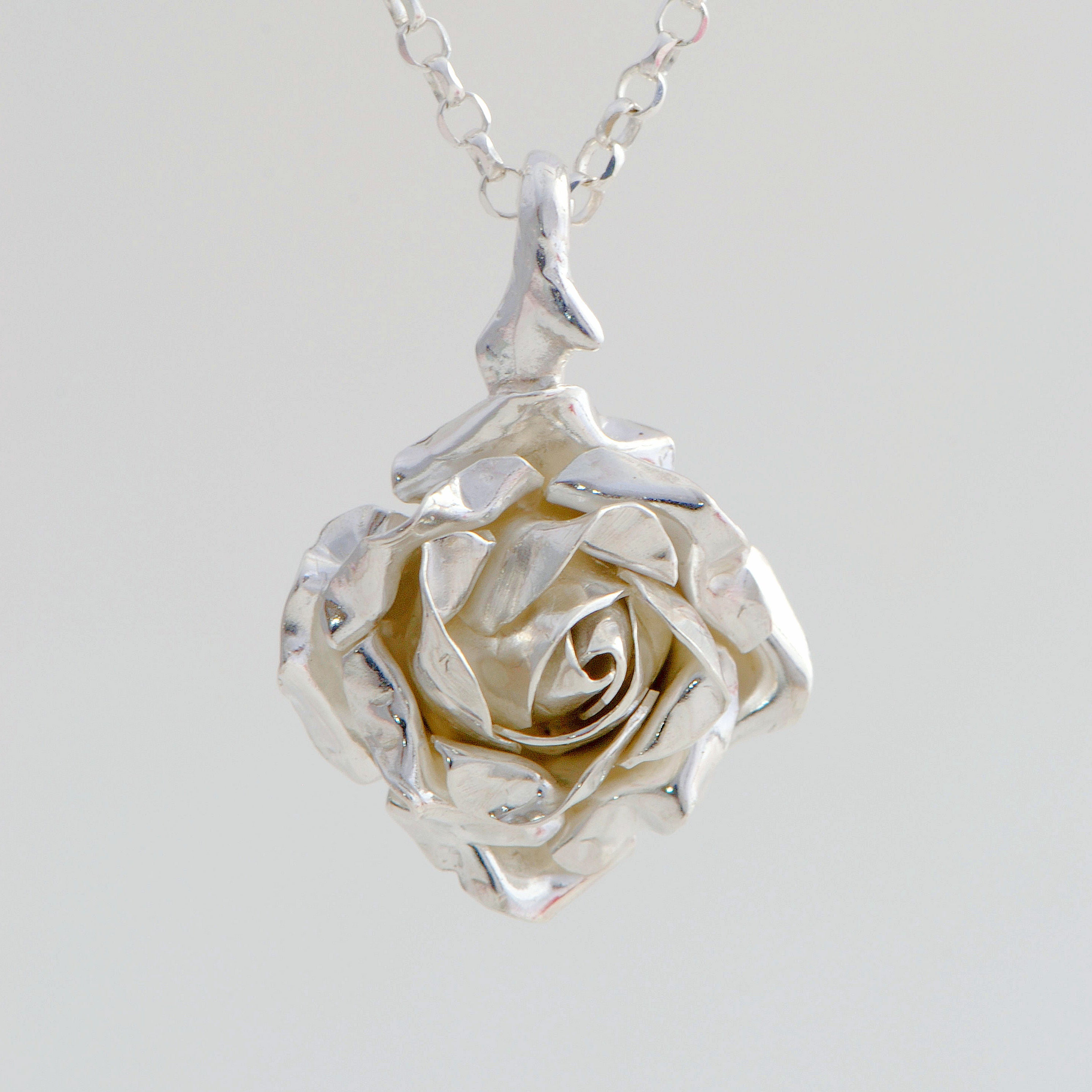 Pendant Rose Silver with double-sided structure