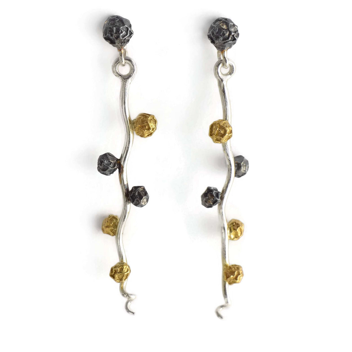 A peppercorn earrings design, floral and fruit stud earrings.