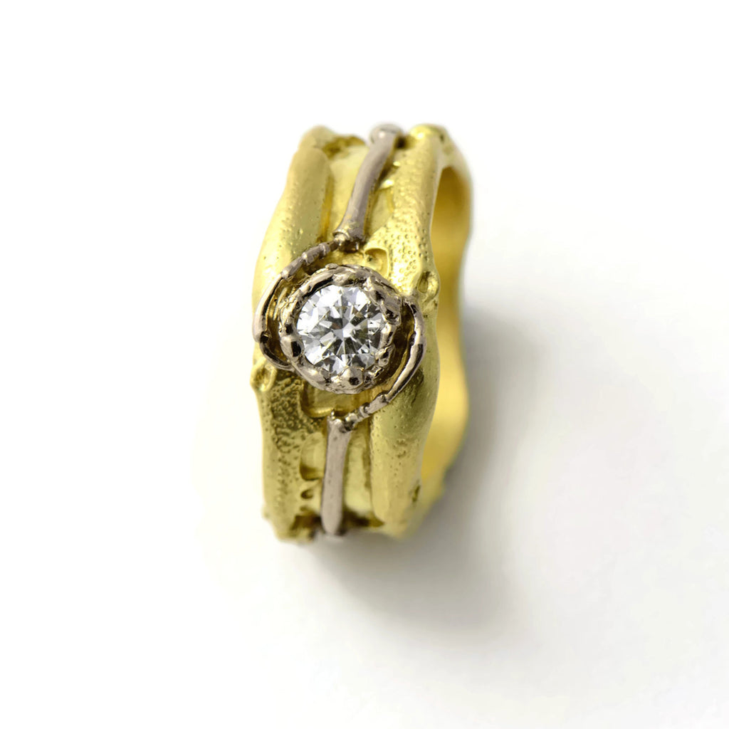 bright diamond gold ring
