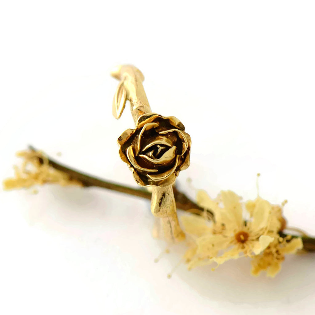 solitary rose ring
