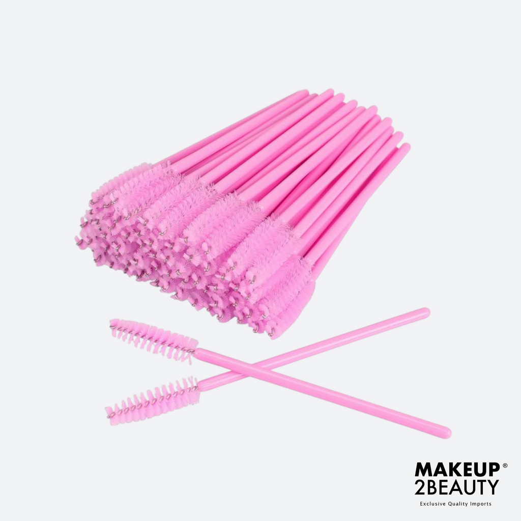Disposable Lash Brush Pink - 50 pack