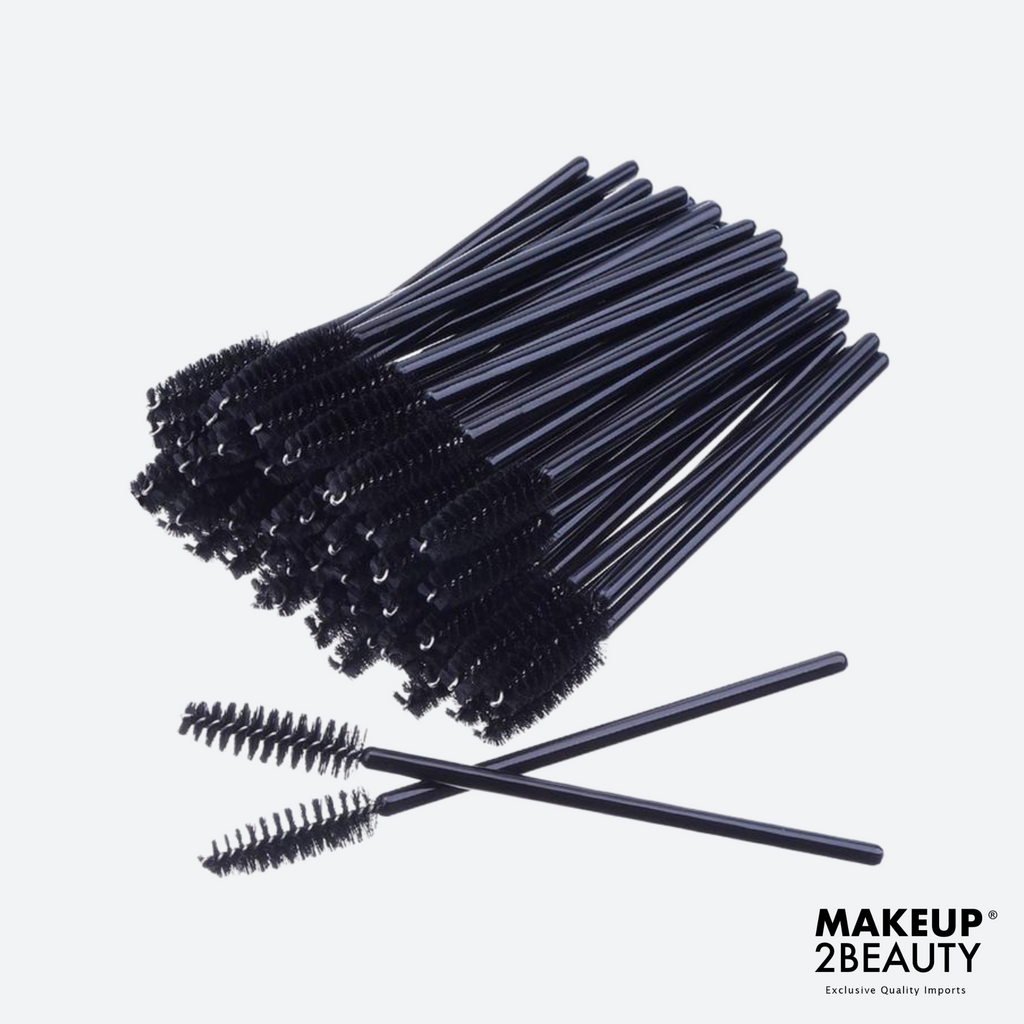 Disposable Lash Brush - Black - 50 pack