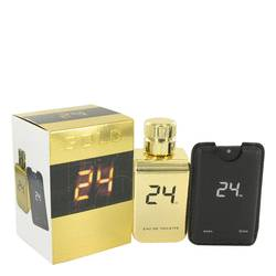 24 Gold The Fragrance Eau De Toilette Spray + 0.8 oz Mini EDT Pocket Spray By ScentStory