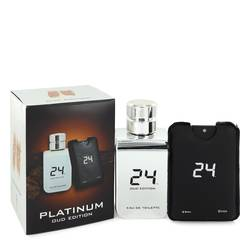 24 Platinum Oud Edition Eau De Toilette Concentree Spray  + 0.8 oz {Pocket Spray (Unisex) By Scentstory