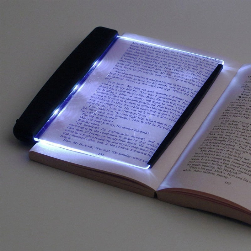 Creative Flat Plate LED Book Light Reading Night Light