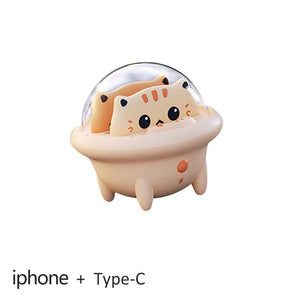 Wonderlife Mini 2 In 1 Mini Power Bank | Cute Cat Portable Powerbank With LED