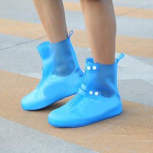 Waterproof Rain Boot Shoe Cover Reusable Overshoes Non Slip Galoshes Elastic PVC FK88