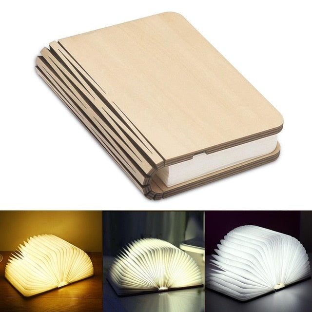 Portable 3 Colors 3D Creative LED book