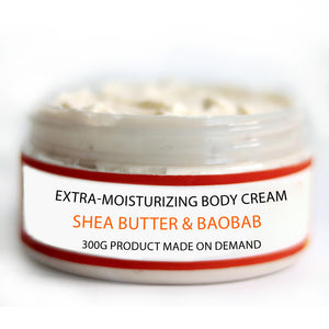 EXTRA MOISTURIZING Body Cream 300g - Shea & Baobab