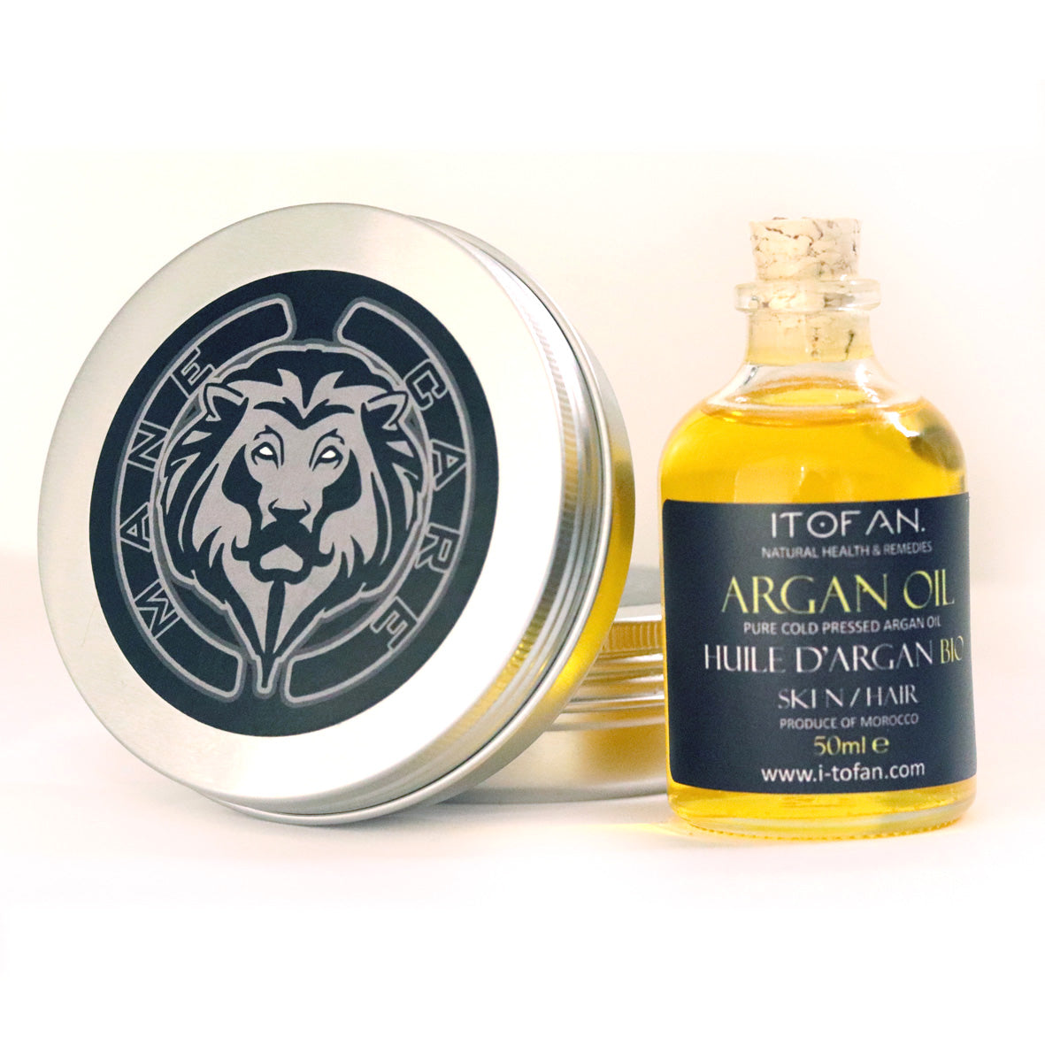 Upgraded Beard Grooming Kit w/Beard Conditioner Beard Cream & Beard Oil - Argan or Baobab Oil