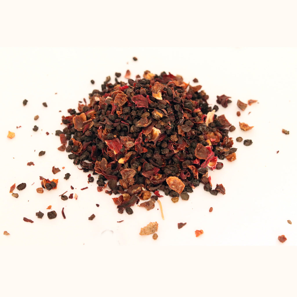 Elderberry, Rosehip & Hibiscus - Traditional Herbal blend - 100% Organic - Bloating/cramps/indigestion