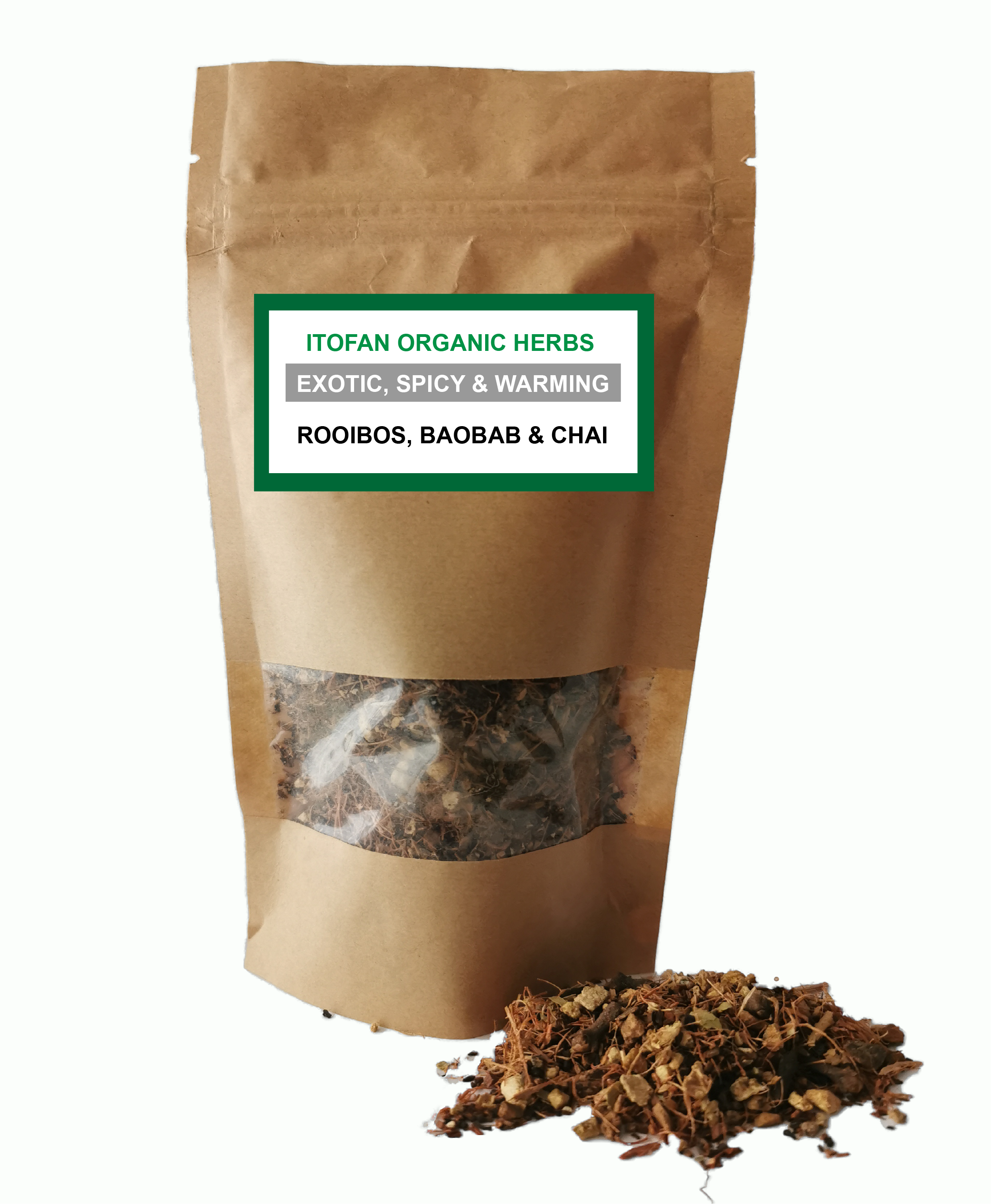 Rooibos, Baobab & Chai - Traditional Herbal Blend - 100% Organic - Indigestion/Gut health/Nausea