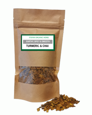 Turmeric & Chai - Traditional Herbal Blend - 100% Organic - Anti-inflammatory/lower cholesterol/boost immunity
