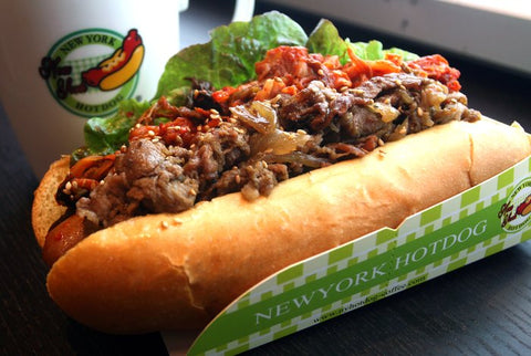 hot dog, new york, nyc, tasty